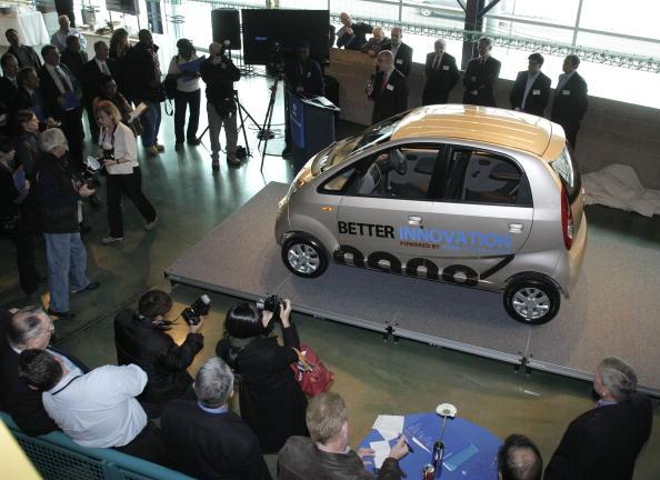 Tata Motors Displays Its Nano Car