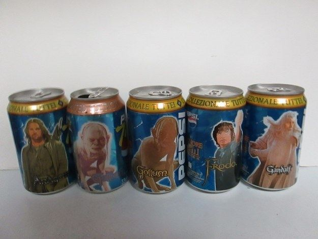 Lord of the Rings Pepsi Cans