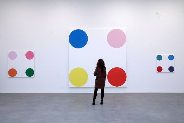 """The Complete Spot Paintings"" at the Gagosian Gallery on January 12, 2012 in London, England."