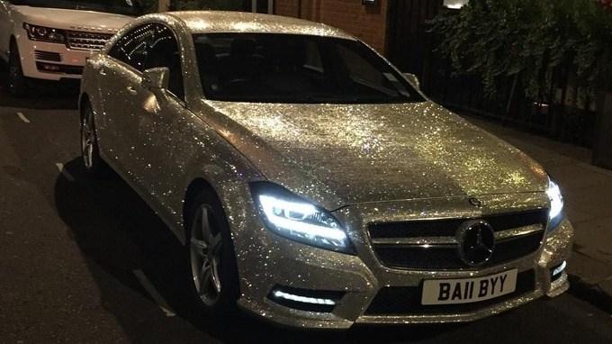 Crystal-encrusted Mercedes