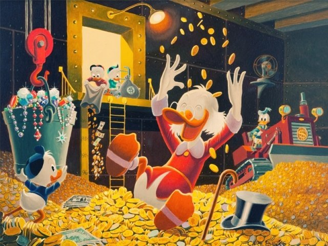 Scrooge McDuck and his fortune