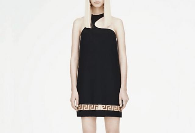 Greca One-Shoulder Mini Dress