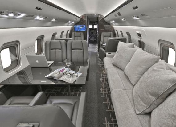 Jet Aviation Private Jet Interior 2