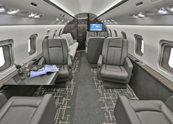 Jet Aviation Private Jet Interior