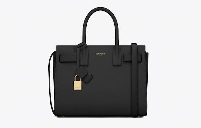 Baby Sac de Jour Bag in Black Leather
