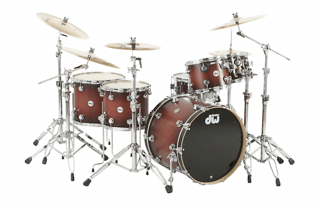 DW Collector's Series Satin Specialty 5-Piece Shell Pack  Tobacco Burst Chrome Hardware