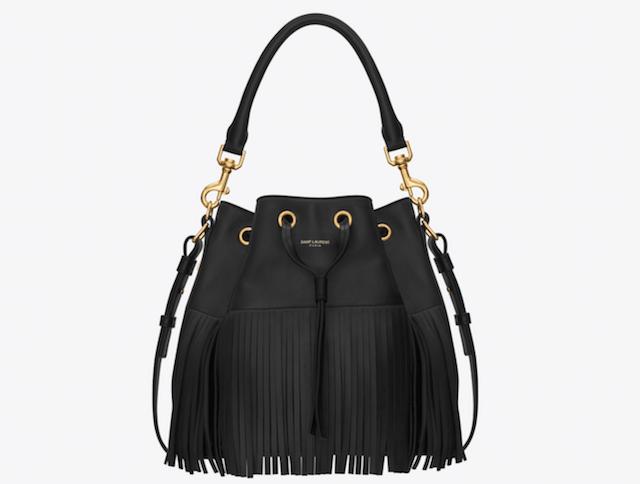 Medium Emmanuelle Fringed Bucket Bag