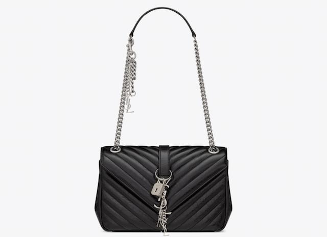 Medium Monogram Saint Laurent Punk Chain Bag in Matelassé Leather