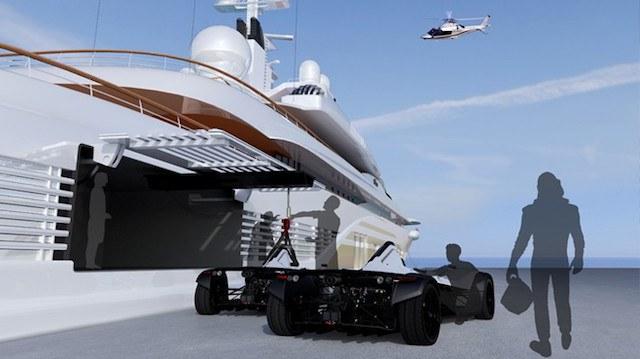 BAC Mono Marine Edition comes with a carbon fiber crane
