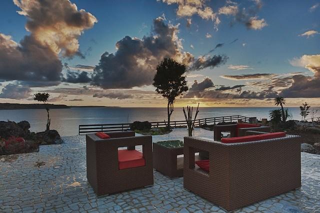 Ani Estate sunset patio view