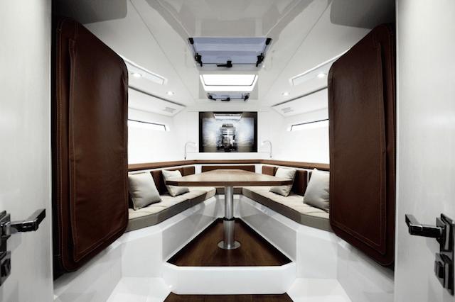 Evo 43 Transforming Yacht interior