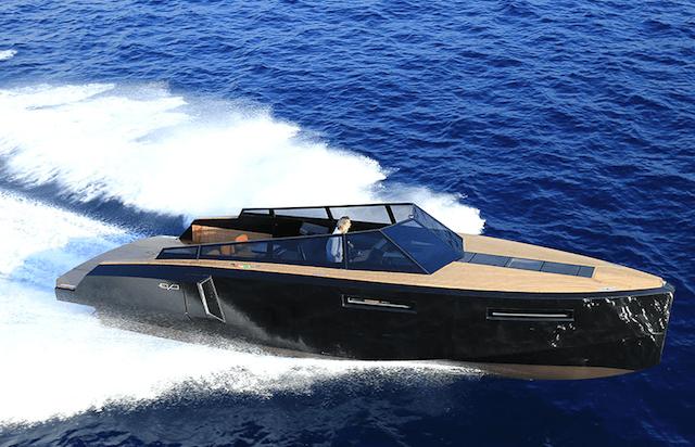 Evo 43 Transforming Yacht on water