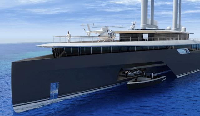 Komorebi 282 Trimaran Superyacht Concept by VPLP front 2
