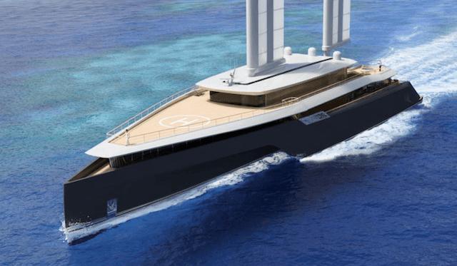 Komorebi 282 Trimaran Superyacht Concept by VPLP front