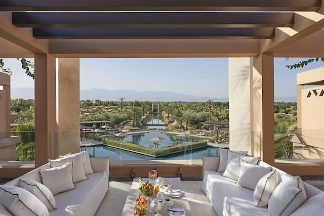 Mandarin Oriental Marrakech terrace