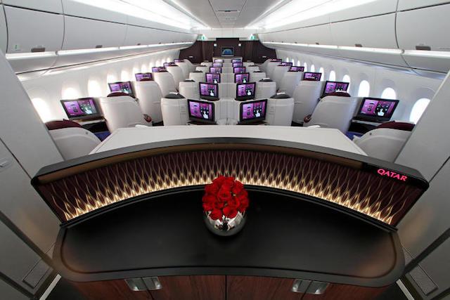 Qatar Airways and Airbus interior 2