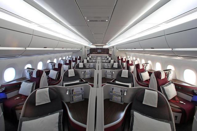 Qatar Airways and Airbus interior 3