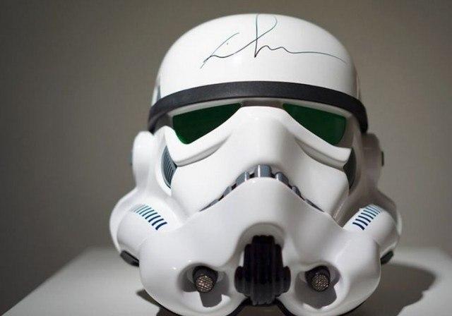 Stormtrooper Helmet Signed by George Lucas