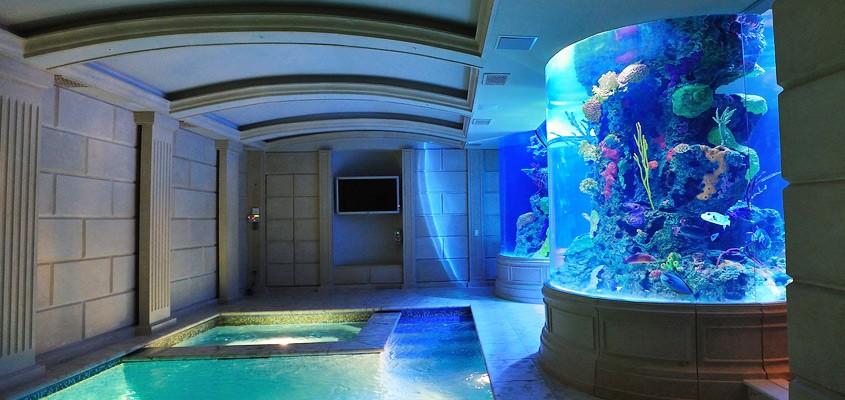 custom home aquarium