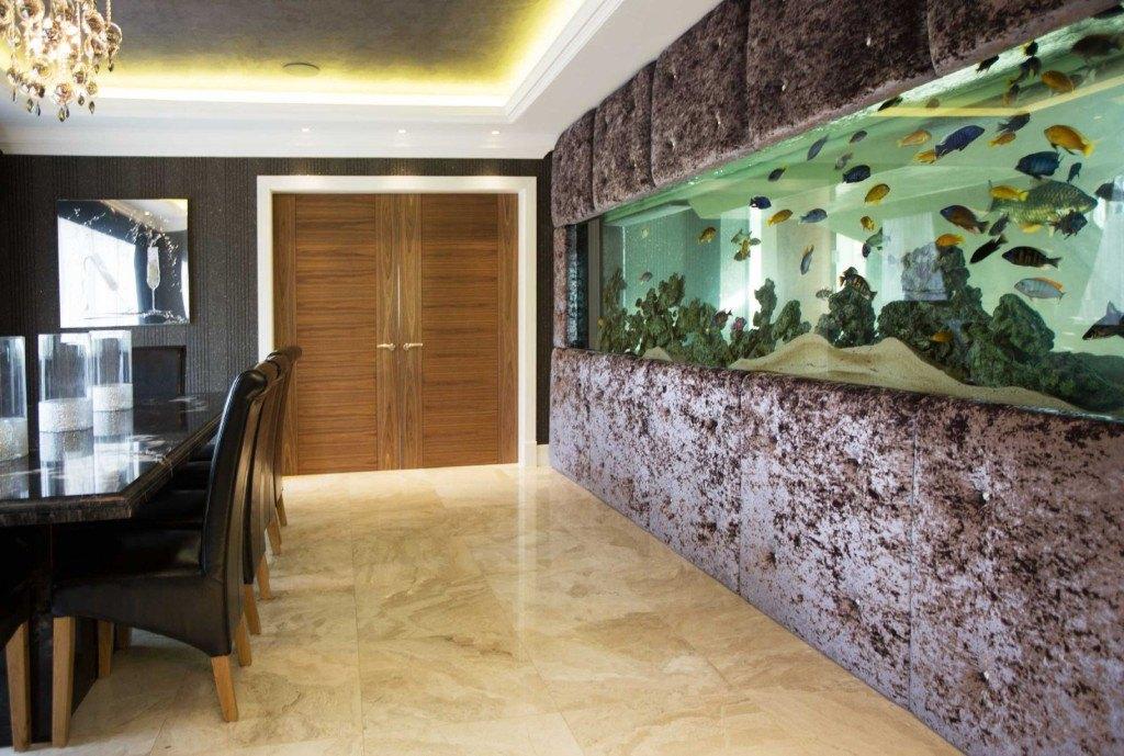 luxurious wall fish tank