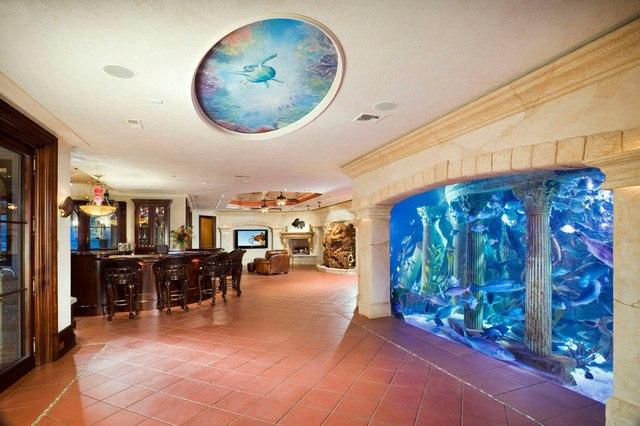 mediterranean home aquarium