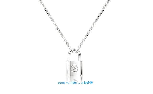 Louis Vuitton UNICEF SIlver Locket Pendant