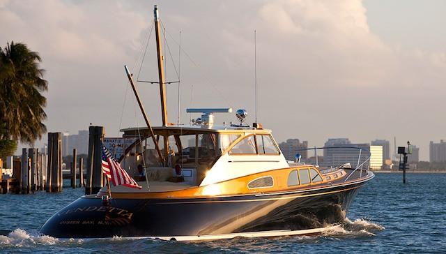 Vendetta Zurn Yacht Design Billy Joel rear