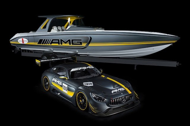 Check Out The Mercedes-AMG GT3 Inspired Cigarette Racing Boat