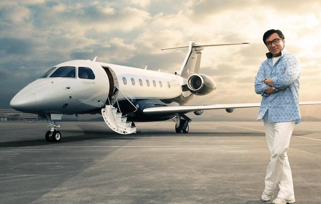 Jackie Chan Embraer Legacy 500