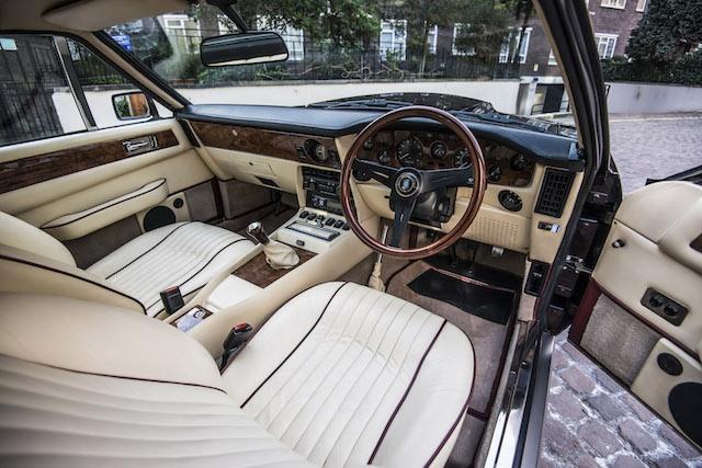 Elton John 1985 Aston Martin V8 Vantage interior