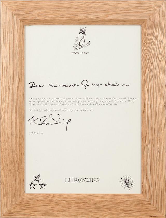 J.K. Rowling Harry Potter Chair 3