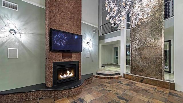 Mike Tyson Las Vegas Home fireplace