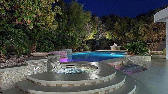 Mike Tyson Las Vegas Home pool