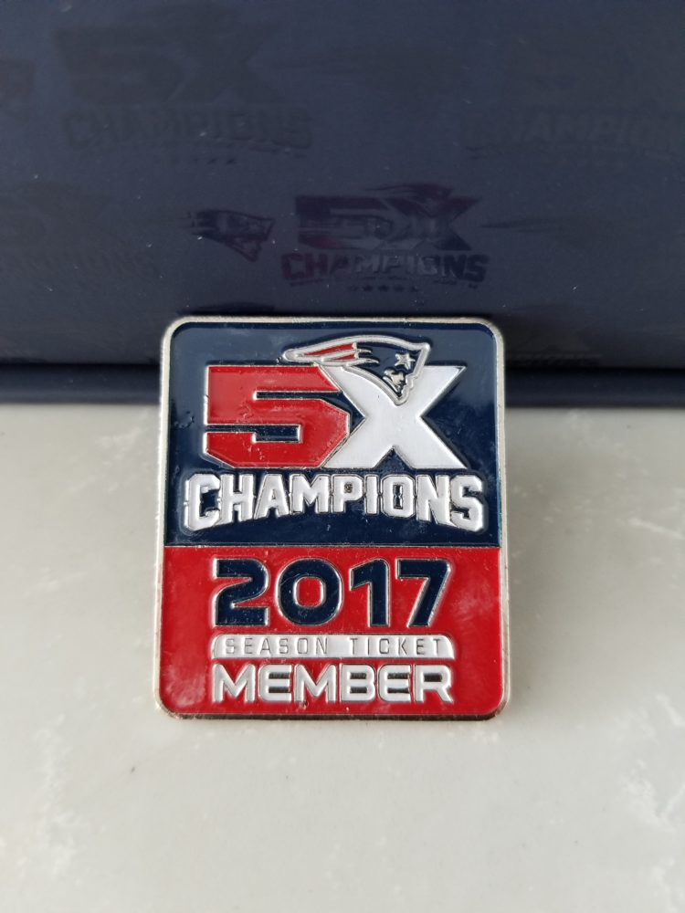 2017-18 New England Patriots Season Ticket Member Pin