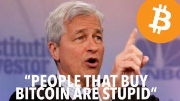 Jamie Dimon Bitcoin for the stupid